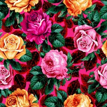 Pattern with Roses -metgala
