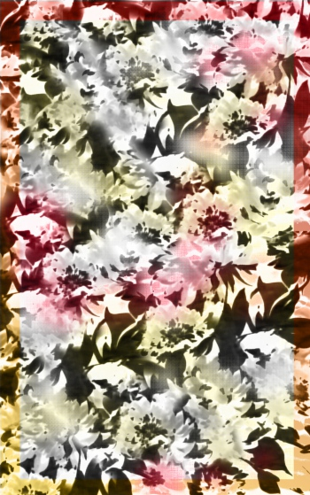 Photographic flowers with fabric effect
