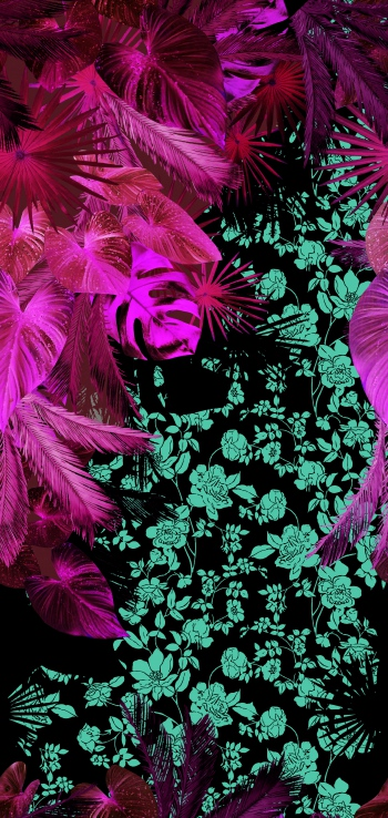 Photographic Tropical Jungle-Pink Version