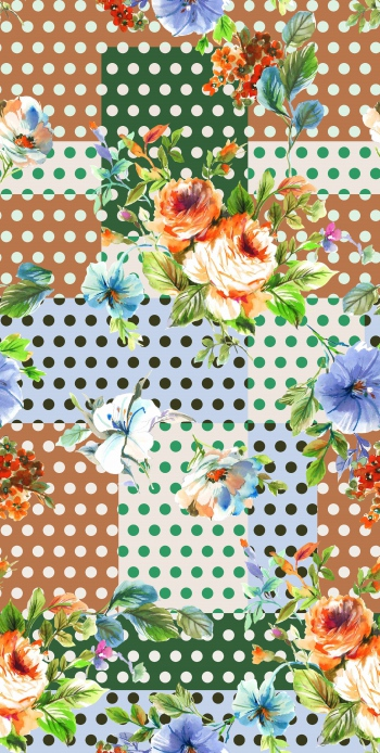 Polka dots and romantic roses