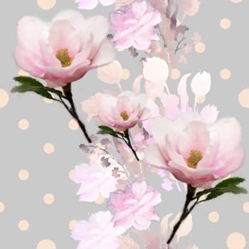 Polka Dots,Flowers