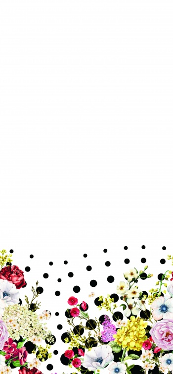 Polkadots and flower- border design