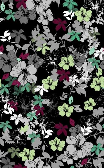 Pretty Flowers Illustration Pattern