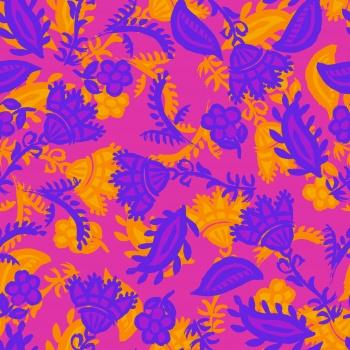 Purple and Turmeric colored Ethnic Blossom