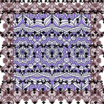 Purple Ethnic Ornaments