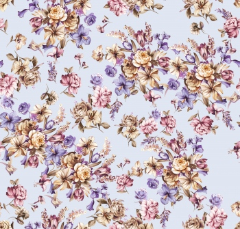 Purple flowers with strokes