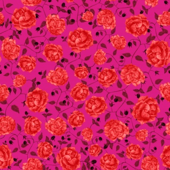 Red roses on pink carpet