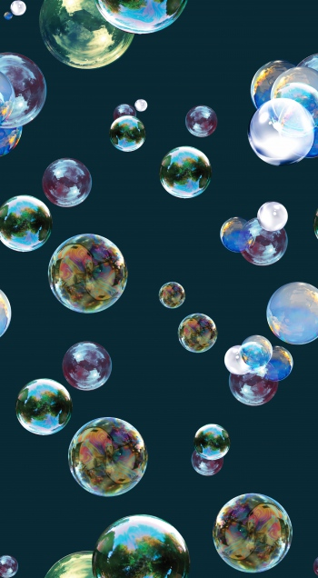 Reflection of the nature on bubbles