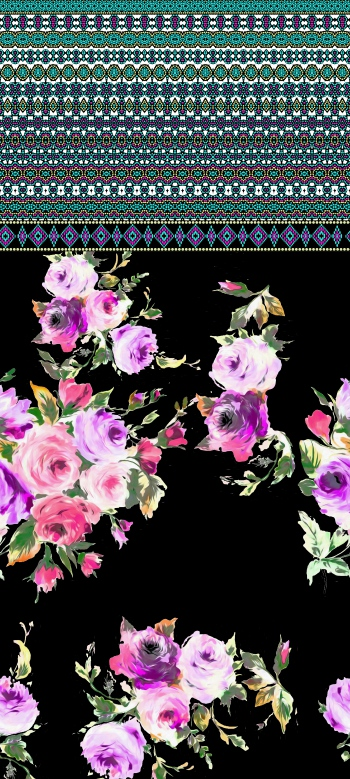 Rose Bouquets and ethnic border