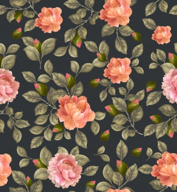 Rose garden print pattern.