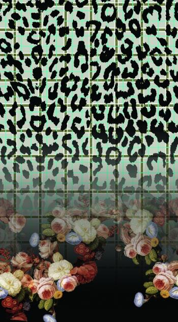 Roses plaid&leopard