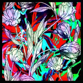 Scarf-Print-Flowers