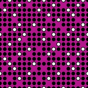 Seamless Dots Pattern on a Fuchsia Background