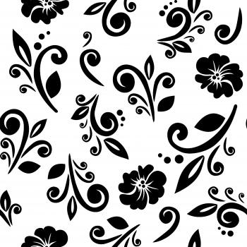 Seamless Monochrome Florals