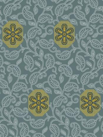 seamless paisley silk print