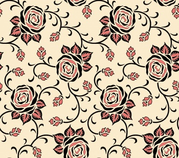 seamless rose flower pattern