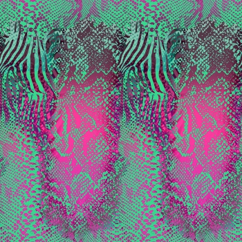 Snake and Zebra Skin Pattern