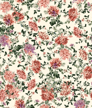 Soft colored floral design that created in digital environment-2nd version.