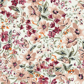 Soft colored floral design that created in digital environment