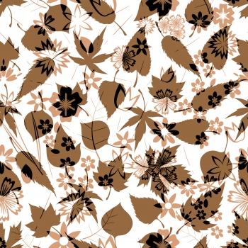 spring leaf print pattern