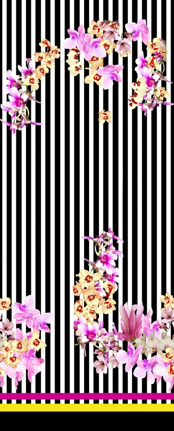 Stripes and orchids