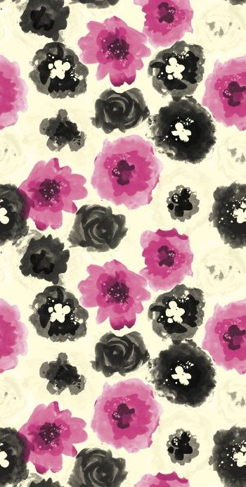 Stylised artistic flowers