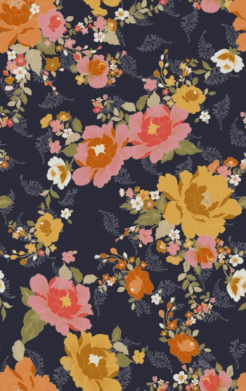 Stylised floral design has been created digitally