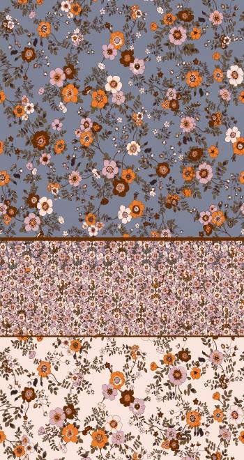 Stylised flowers-Border design