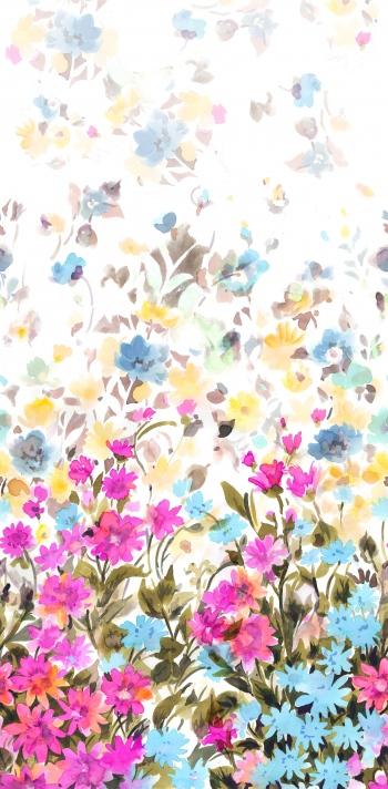 Stylised fuzy wildflowers