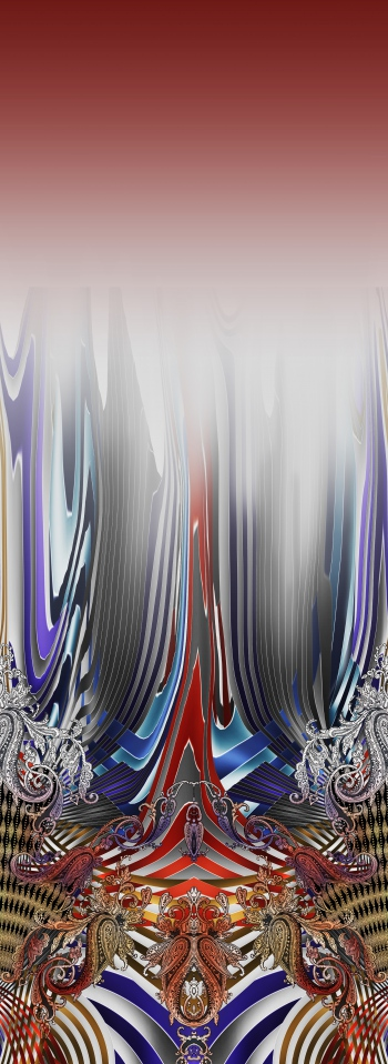 Stylised stripes and paisleys