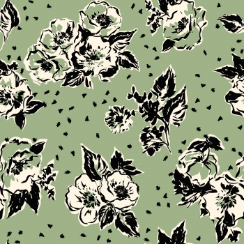 stylized ,bold seamless floral design