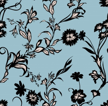 stylized seamless floral design,