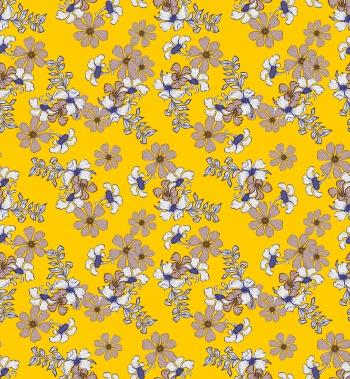 Textured Beige Flowers