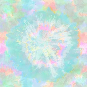 Tie Dye - Batik - Circle - Pink - Turquoise