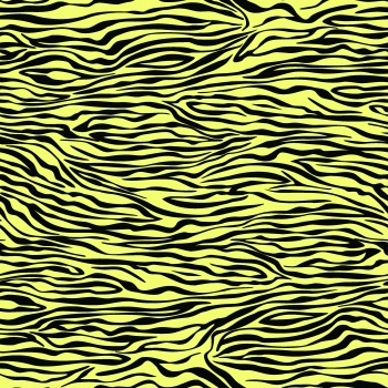 Tiger on Yellow