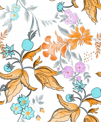 traditional flower seamless pattern