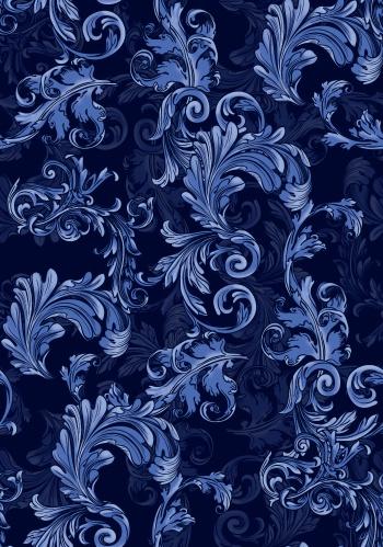 Transparent and untransparent blue damasks