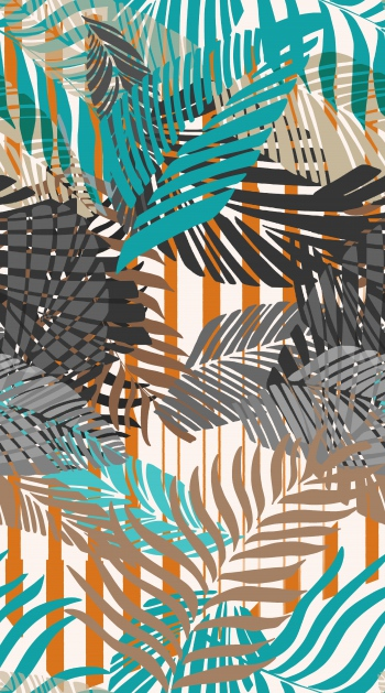 Tropical Leaves and Stripes
