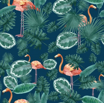 Tropical trendy summer print pattern.