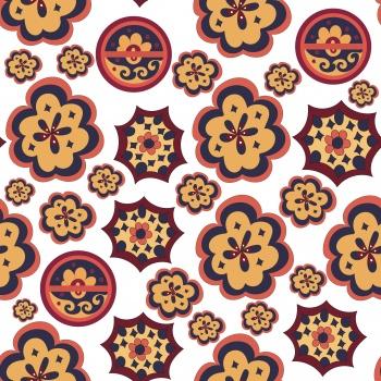 Vector trendy geometric graphic print pattern.