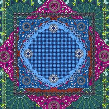 Vectorial Scarf Print Design