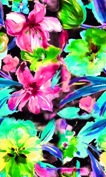 Watercolor hollyhock-