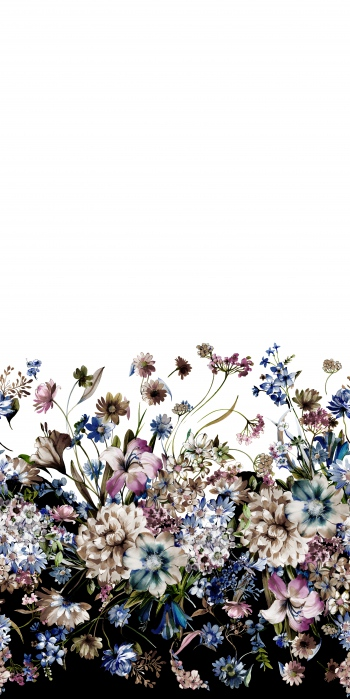 Watercolored beautiful flowers