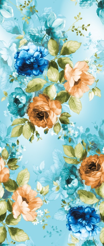 Watercolored romantic roses and their transparent versions