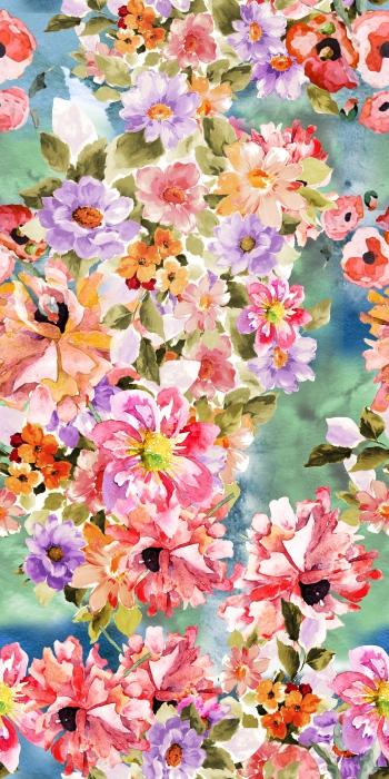 Watercolored sort of flowers