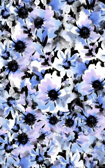 Watercolored stylish flowers
