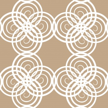 white style pattern with circle and line