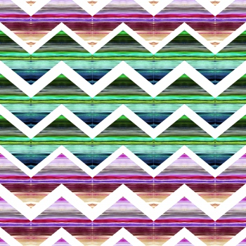 White Zig-Zags on Colourful Stripes