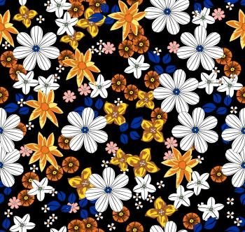 White_yellow_blue_flowers