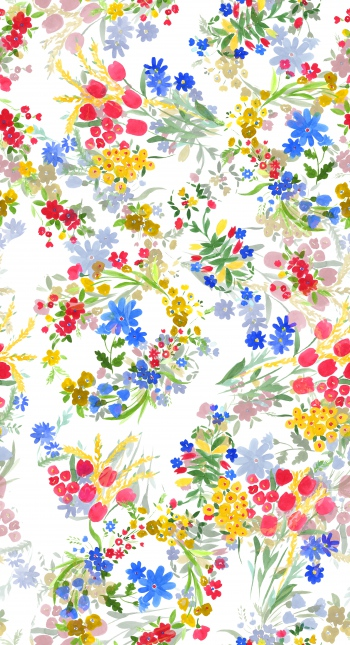 Wild flowers in wonderland